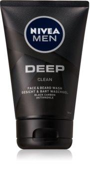 Nivea Men Deep gel detergente per viso e barba