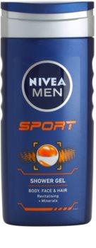 Nivea Men Sport gel doccia per viso, corpo e capelli
