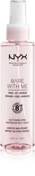 NYX Professional Makeup Bare With Me Prime-Set-Refresh Multitasking Spray konnyű multifunkciós spray