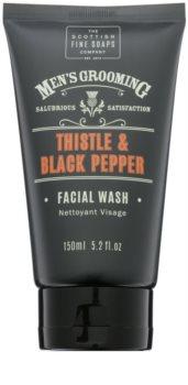 Scottish Fine Soaps Men's Grooming Thistle & Black Pepper gel detergente per il viso