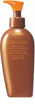 Shiseido Sun Care Self-Tanning samoopalovací gel na tělo a obličej