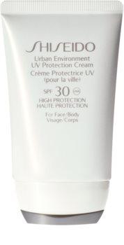 Shiseido Sun Care Urban Environment UV Protection Cream crema protettiva per viso e corpo SPF 30