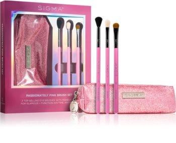 Sigma Beauty Passionately Pink sada štětců s pouzdrem