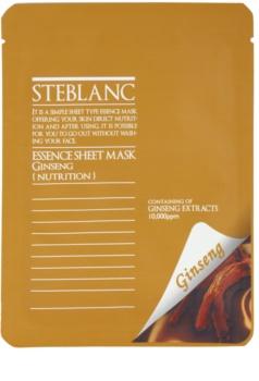 Steblanc Essence Sheet Mask Ginseng maschera nutriente e idratante corpo