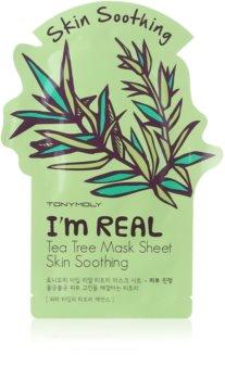 TONYMOLY I'm REAL Tea Tree maschera lenitiva in tessuto