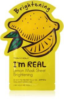 TONYMOLY I'm REAL Lemon plátýnková maska s rozjasňujícím účinkem