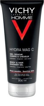 Vichy Homme Hydra-Mag C sprchový gél na telo a vlasy