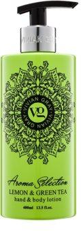 Vivian Gray Aroma Selection Lemon & Green Tea mlieko na ruky a telo