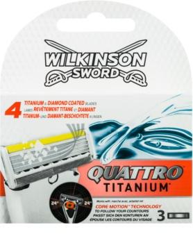 Wilkinson Sword Quattro Titanium lame di ricambio 3 pz