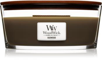 Woodwick Oudwood vonná sviečka 453,6 g s dreveným knotom (Hearthwick)