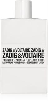 Zadig & Voltaire This is Her! telové mlieko pre ženy