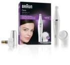 Braun Face 810 Hårfjerner med rensebørste til ansigt