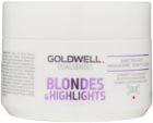 Goldwell Dualsenses Blondes & Highlights mascarilla regeneradora neutralizante para tonos amarillos