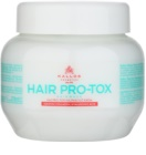 Kallos KJMN mascarilla para cabello frágil y dañado con aceite de coco, ácido hialurónico y colágeno