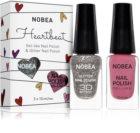 NOBEA Heartbeat színes- és csillogó körömlakk szett