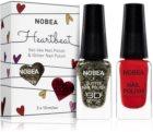 NOBEA Heartbeat kit de vernis à ongles scintillants et colorés  Festive Red teinte