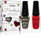 NOBEA Heartbeat set di smalti colorati e luccicanti  Festive Red colore