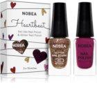 NOBEA Heartbeat conjunto de colorido y brillante esmaltes de uñas