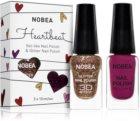 NOBEA Heartbeat sada barevný a třpytivý lak na nehty