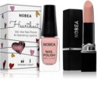 NOBEA Heartbeat conjunto de esmalte de uñas y barra de labios hidratante