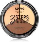 NYX Professional Makeup 3 Steps To Sculpt Konturier-Palette für die Wangen