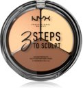 NYX Professional Makeup 3 Steps To Sculpt konturovací paletka
