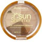 Rimmel Sun Shimmer 3 in 1 Shimmering Bonzer bleščeči puder