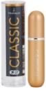 Travalo Classic Black szórófejes parfüm utántöltő palack unisex Gold