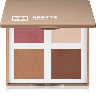 3INA The Face Palette Matte Contour- poskipunapaletti