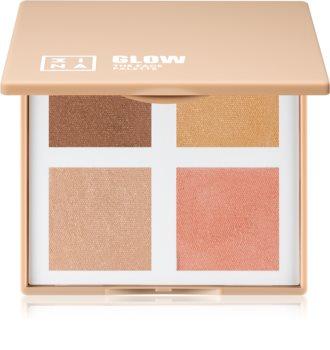 3INA The Face Palette Glow bőrvilágosító paletta