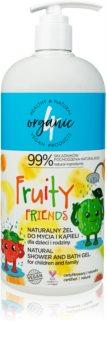 4Organic Fruity gel de banho extra suave para toda a família