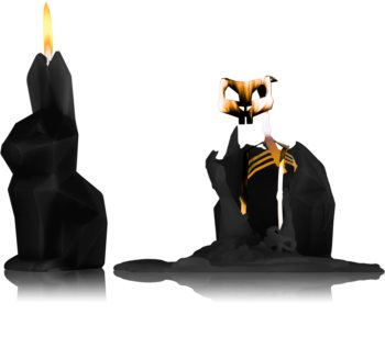 54 Celsius PyroPet HOPPA (Bunny) dekorativt lys Sort I.