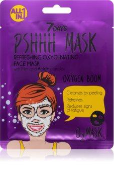 7DAYS PSHHH Máscara de tejido para limpieza facial
