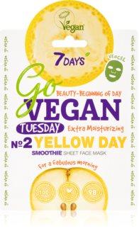 7DAYS GoVEGAN Tuesday YELLOW DAY mascarilla de tela nutritiva
