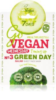 7DAYS GoVEGAN Wednesday GREEN DAY mascarilla nutriente en forma de hoja