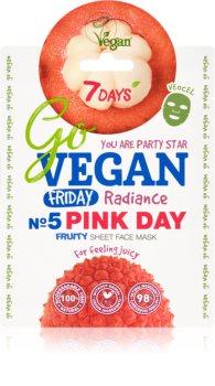 7DAYS GoVEGAN Friday PINK DAY освітлювальна косметична марлева маска