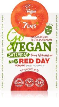 7DAYS GoVEGAN Saturday RED DAY mascarilla nutriente en forma de hoja