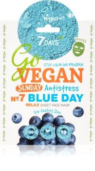 7DAYS GoVEGAN Sunday BLUE DAY тканинна маска для обличчя з очищаючим та освіжаючим ефектом