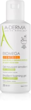 A-Derma Exomega μαλακτικό αφρώδες τζελ για ξηρή και ατοπική επιδερμίδα