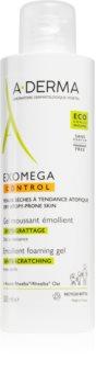 A-Derma Exomega омекотяващ миещ гел за суха атопична кожа