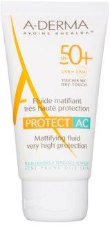 A-Derma Protect AC zmatňující pleťový fluid SPF 50+