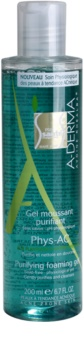 A-Derma Phys-AC gel espumoso de limpeza para pele problemática, acne
