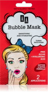 AA Cosmetics AA Bubble Mask feuchtigkeitsspendende straffende Gesichtsmaske