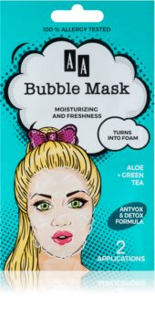 AA Cosmetics AA Bubble Mask Opfriskende ansigtsmaske