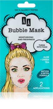 AA Cosmetics AA Bubble Mask Virkistävä Kasvonaamio