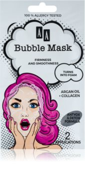 AA Cosmetics AA Bubble Mask Opstrammende ansigtsmaske
