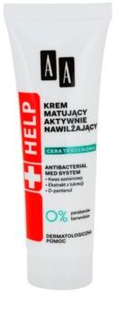 AA Cosmetics Help Acne Skin Matterende Crème met Hydraterende Werking