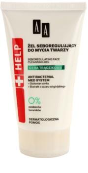 AA Cosmetics Help Acne Skin čistiaci gél pre redukciu kožného mazu