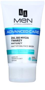 AA Cosmetics Men Advanced Care gel nettoyant matifiant visage