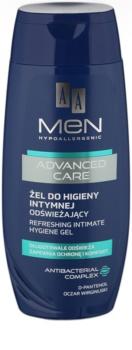 AA Cosmetics Men Advanced Care gel rafraîchissant toilette intime
